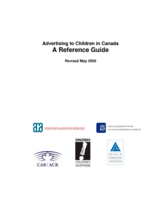 Advertising to Children in Canada