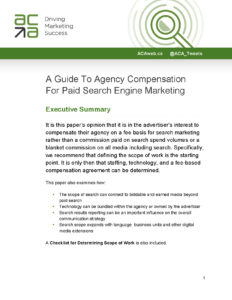 A Guide To Agency Compensation for Paid Search Engine Marketing